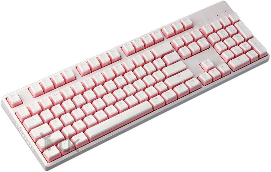 YMDK 104 PBT OEM Perfil Rosa Blanco Negro Pudding Keyset para MX Teclado mecánico no soporta Leyenda Shine Through Rosa