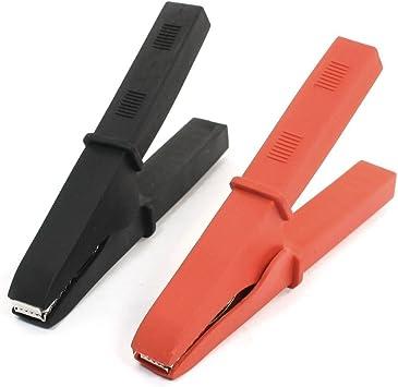 2 schwarze 30A beschichtete Autobatterie-Testclips Krokodilklemmen Kits 2 rote