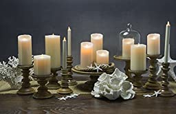 Boston Warehouse Mystique Flameless Taper Candle, 8-Inch, Ivory
