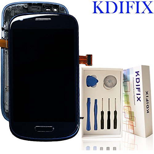 KDIFIX For Samsung Galaxy S3 mini i8190 LCD Touch Screen Assembly + Frame with Full Professional Repair Tools kit (BLACK+FRAME)
