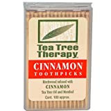 Tea Tree Therapy Toothpicks – Birchwood Infused with Cinnamon Tea Tree Oil and Menthol, 1200 Ct For Sale