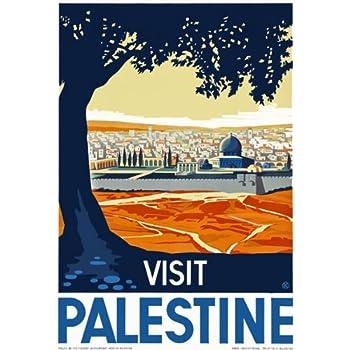 A3 Travel Art Poster Visit Palestine  print