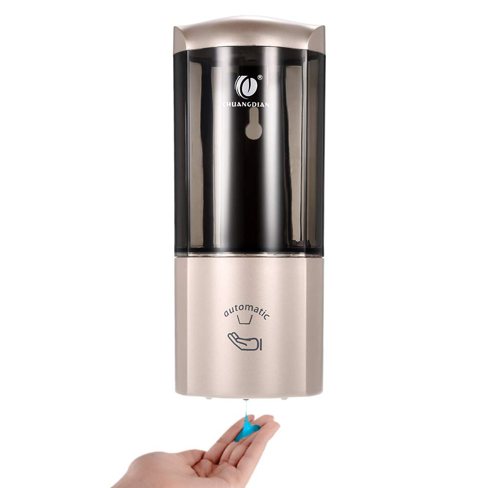 Fesjoy CHUANGDIAN Wall-Mounted Automatic Soap Dispenser with IR Sensor, Wall Mount Hand Cleanser Dispenser, Non-Touch Soap Dispenser & Holder 500ml