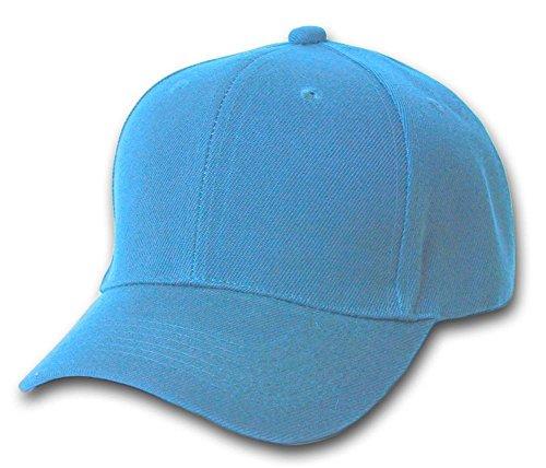 41797ecea Blank/Plain Adjustable Baseball Cap/Hat - Sky/Baby Blue at Amazon ...