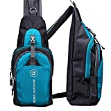 Outdoors Sport Backpack Bags,Hemlock Men Women Go Hiking Shoulder Bag (Blue)