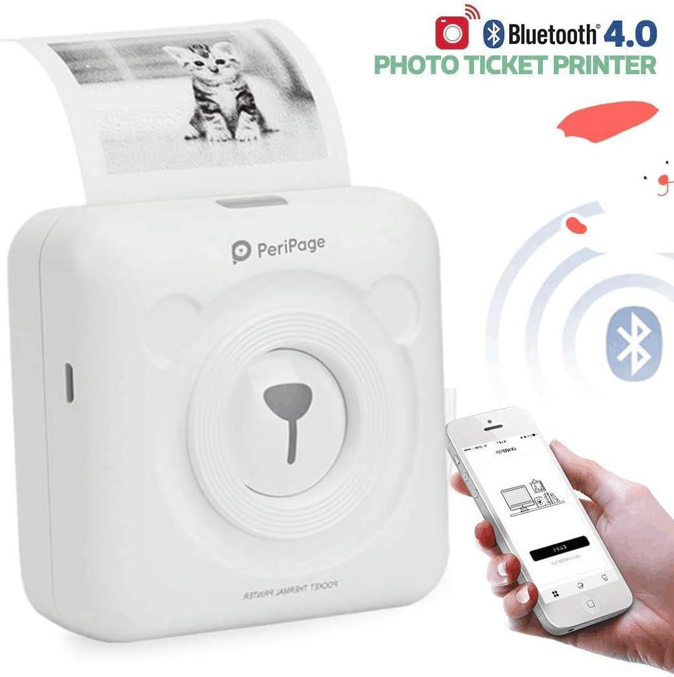Peripage 2.0 Mini Impresora de Etiqueta Portátil Bluetooth 4.0 ...