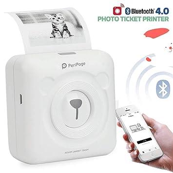 Peripage 2.0 Mini Impresora de Etiqueta Portátil Bluetooth ...