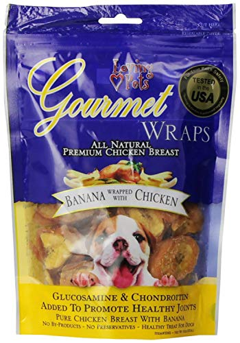 (Loving Pets Banana & Chicken Wraps Dog Treats, Gourmet All Natural, 6 Ounce, 6 Pack)