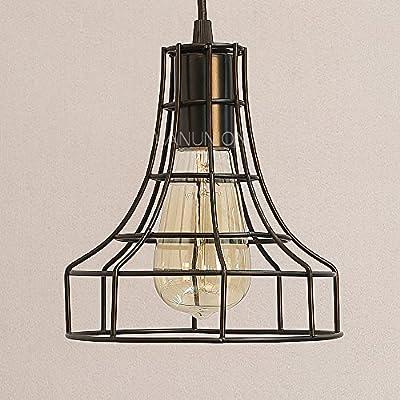 Wanunion Vintage Industrial Pendant Metal Lamp Fixture Chandelier Lighting Hanging Lamp Ceiling Lighting Shade