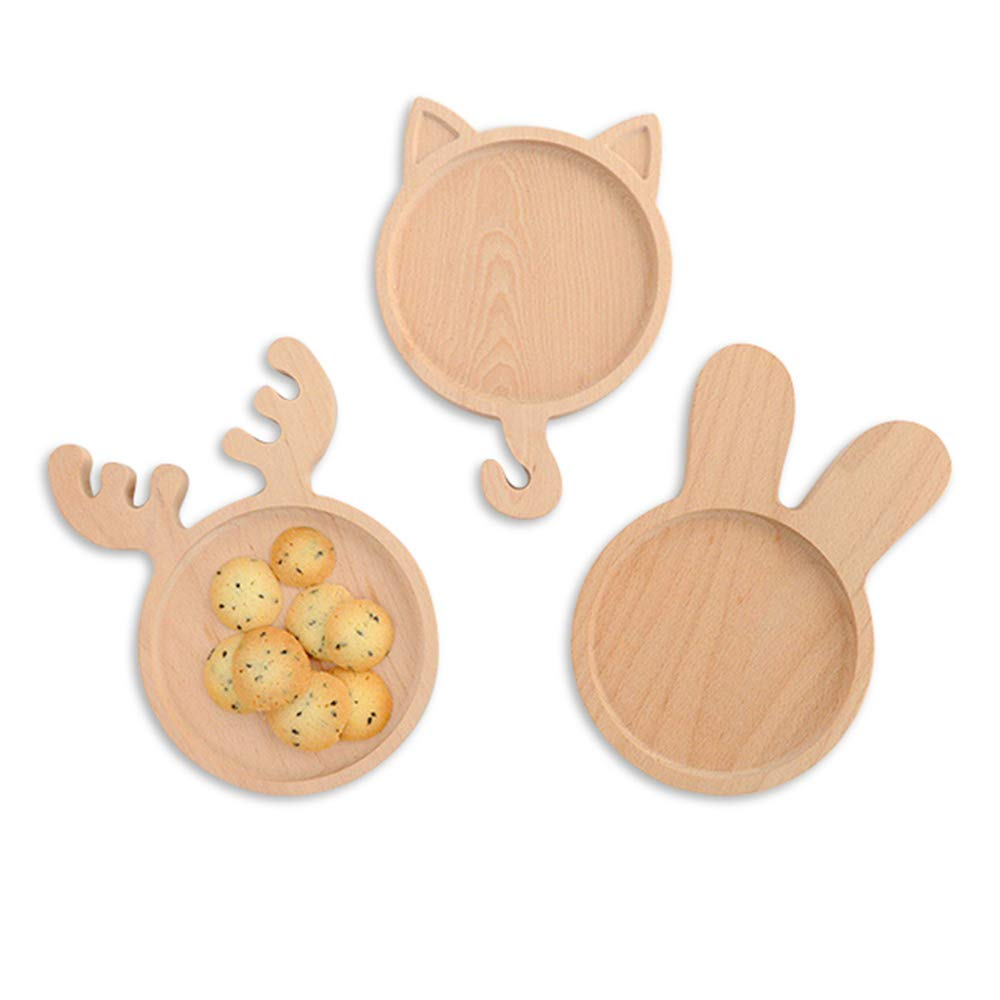 Disney Bamboo Kids Plates Small East Bunny Children's Dinner Dishes Animal Gift Toddler Dishes