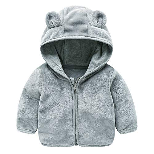 XIAOHAWANG Baby Sweater Boys Girls Cardigan Toddler Knit Coats Toddler Warm Outerwear Spring Autumn CGray3T