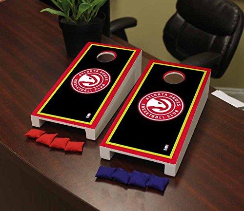 Victory Tailgate Atlanta Hawks NBA Basketball Desktop Cornhole Game Set Border Version by Victory Tailgate