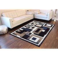 Modern Area Rug Reflections 584 Champaign (8 Feet X 10 Feet 6 Inch)