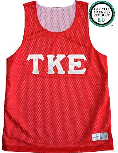 TAU KAPPA EPSILON Unisex Mesh TKE Tank Top. White Sewn Letters, Various Colors
