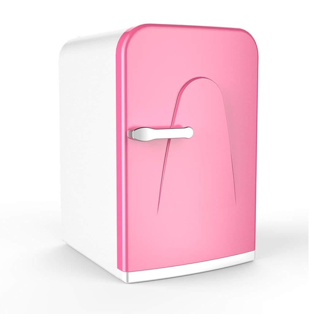 LQQFF Car Refrigerator Mini Fridge Cooler and Warmer 16L Portable and Quiet   AC + DC Power Compatibility Cooling Box for Cars (Color : Pink)