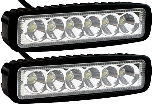 2-Pack-EPAuto-18W-1530lm-LED-Light-Bar-Straight-Spot-Beam-Waterproof-Mount-for-Jeep-Van-Wagon-ATV-SUV-Pickup-Off-road