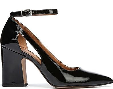 FRANCO SARTO Women's A-kalindi Pumps Black Leather,5.5