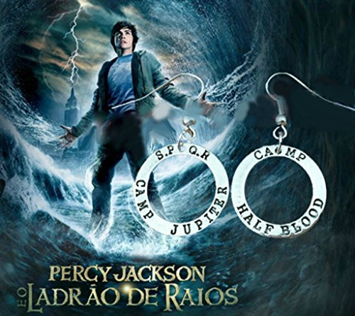 J&C Family OwnedPercy Jackson S.P.Q.R Camp Jupiter & Camp Half Blood Silver Charms Cute Girl Charm Earrings