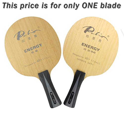 Palio ENERGY06 with 6Wood and 2Carbon FL Table Tennis Blade by Palio