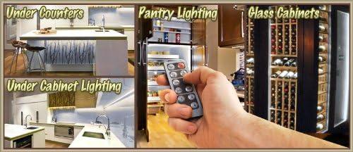 Under Counters Microwave Glass Cabinets Floor Waterproof Flexible DIY 110V-220V Biltek 32.8 ft Cool White Kitchen Valance Microwave LED Backlight Night Light On//Off Switch Control Kit