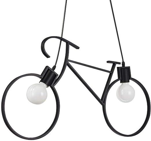 DLINMEI Luces Colgantes de Metal Forma de la Bicicleta E27 Edison ...
