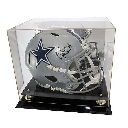 Dak Prescott Autographed Signed Dallas Cowboys Riddell Replica Helmet - JSA Certified Authentic - Display Case Included (Autographed Riddell Helmet)
