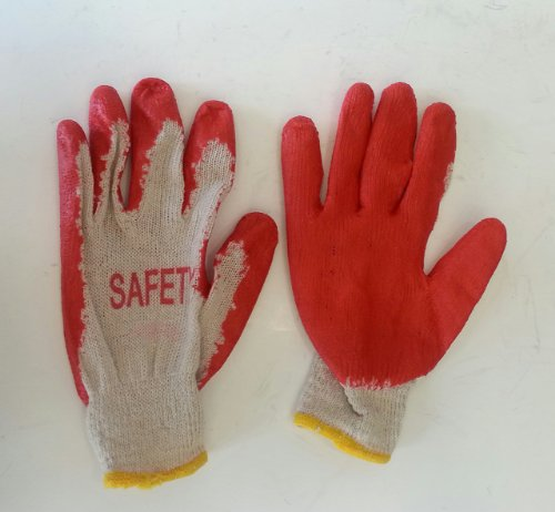 300 Pairs Red Latex Rubber Palm Coated Work Gloves (Palm Rubber Gloves Coated)