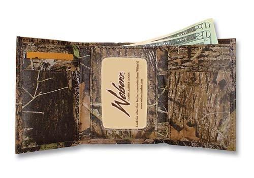 Mossy Oak Break Up Leather Camouflage Wallet - Mossy Oak Tri Fold Wallet