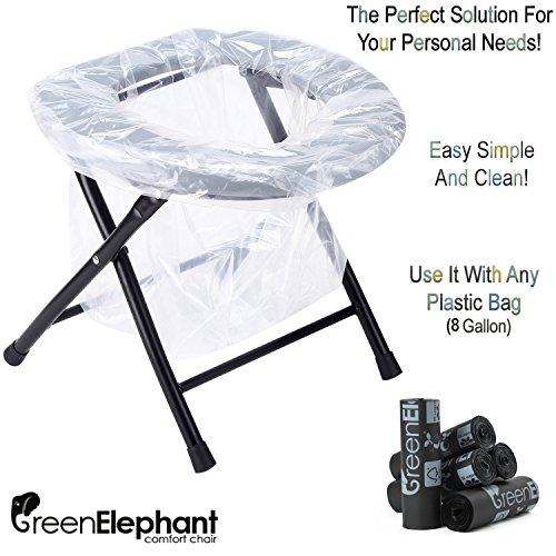 Green Elephant Folding Commode Portable Toilet Seat - Porta