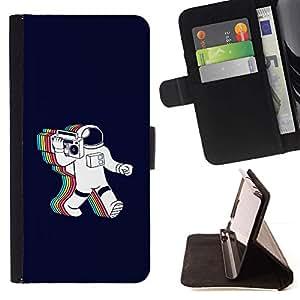 Momo Phone Case / Flip Funda de Cuero Case Cover - Psychedelic Astronauta Radio Música;;;;;;;; - HTC One M8