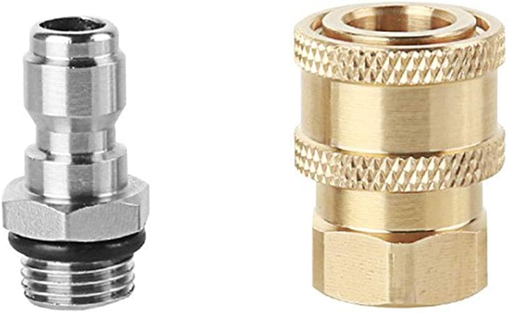"Top Quality ALL BRASS 1//4/"" Quick Connect Fittings for Pressure Washer Hose-New"