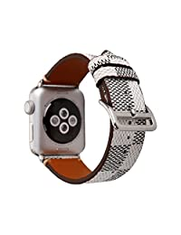 MeShow TCSHOW 44mm Tartan Plaid Style Replacement Strap Wrist Band Watch Band with Silver Metal Adapter Compatible with Apple Watch Series 4 2018version (Not fit for iWatch 40MM)