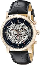 Lucien Piccard Watches Sultan Automatic Multi-Function Leather Band Watch