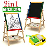 Children Double sided Wooden Easel Chalk for Drawing and Writing Board / Toys Game Play Kids Childrens Child Toddler Baby Cool Activity Educational Creative Fun Special Unique Devlopment Developmental Friends Boys Girls Present Latest Newest Learning Outdoor Indoor Room Home House Easy Coolest Hands Smart Motoric Classic Constructions Preschool Popular Large Little Small Big