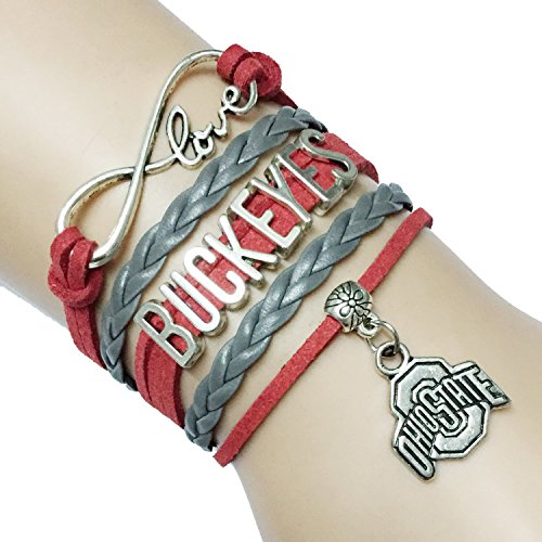 Infinity Buckeyes Bracelet Friendship Handmade product image