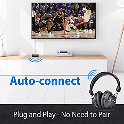 Avantree Long Range Wireless TV Headphones with Bluetooth Transmitter