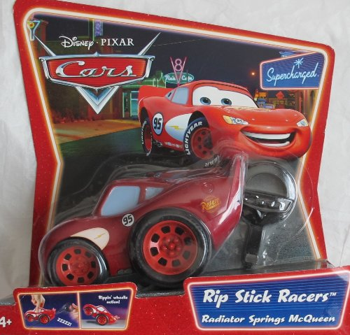 Disney/Pixar CARS Supercharged RIP STICK RACERS Car RADIATOR SPRINGS McQUEEN Vehicle w RIP STICK (2007)