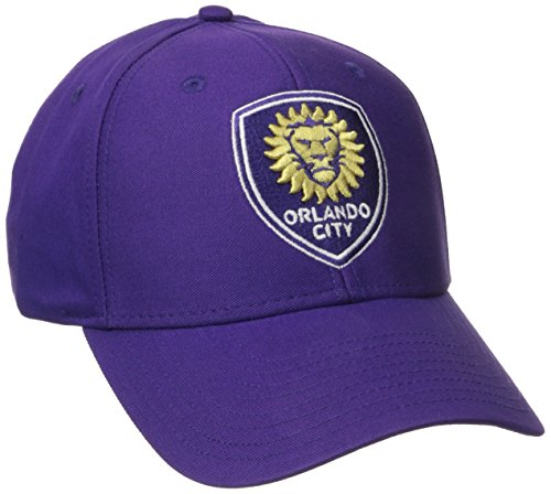 MLS Orlando City SC Men's Basic Structured Adjustable Cap, One Size, Purple