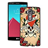 LG G4 Case,Ed Hardy 11 Black Case for LG G4,Fashion Cover