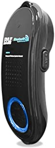 Portable Wireless Waterproof Handset Speaker - Bluetooth Compatible Rechargeable Battery Powered Shower Outdoor Loud Speaker w/ Microphone - USB Charger - iPhone, Android - Pyle PBTWP24BK (Black)