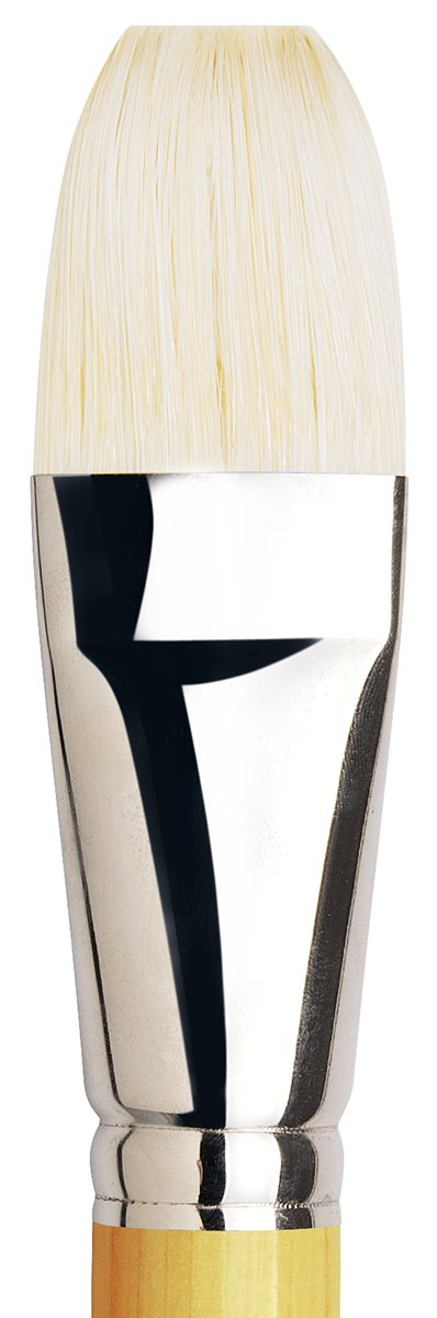 Filbert XL-Length Hand-Interlocked with Natural Polished Handle Size 12 da Vinci Hog Bristle Series 7900 Maestro Artist Paint Brush