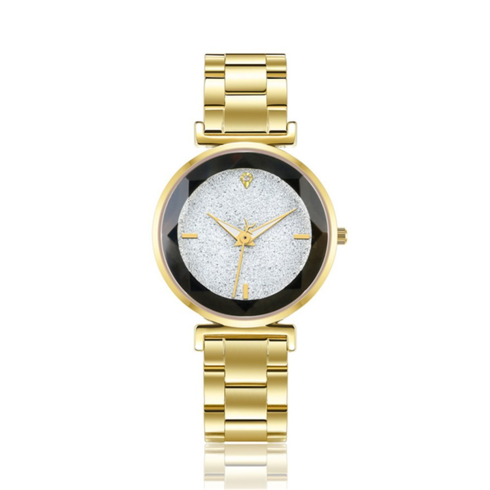 GAOY Watch Relojes Señora Reloj De Moda Impermeable Diamante Brillante Cuarzo Analógico Trend Reloj Blanco,C: Amazon.es: Electrónica
