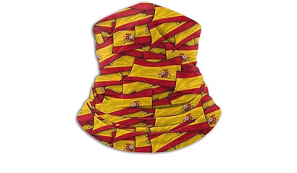Calentador de Cuello de vellón:Tubo de Polaina con Cuello de Bandera de Onda de España,pañuelo,máscara,Diadema y Gorro: Amazon.es: Deportes y aire libre