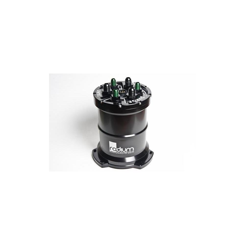 Radium Engineering Dual AEM 50-1200 E85 Multi-Pump Fuel Surge Tank (Pumps Incl) (rad20-0139-02)