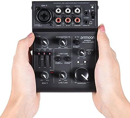 Mesa de Mezcla Consola de Mezclador 5 Canales Mini Mic-Line con ...