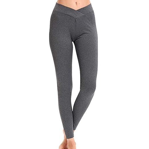 Gebuter Waist Yoga Pants with Pockets, Tummy Control Yoga ...