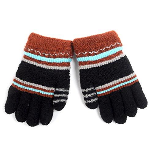 Children's Striped Fleece Lined Knit Winter ()