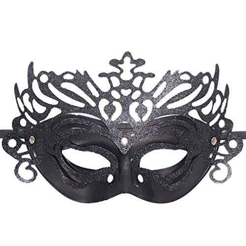 YAZILIND Fashion Sexy Lady Girl Half Face Mask For Costume Masquerade Halloween (Easy Made Halloween Costumes Couples)