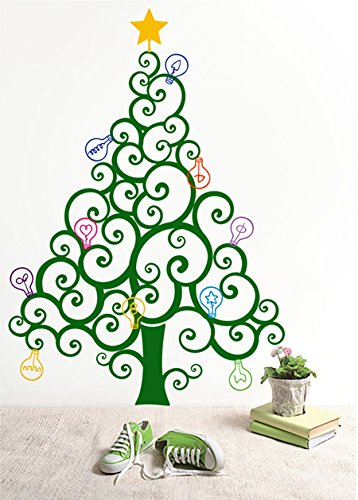 Amazoncom PopDecors Christmas Tree with Colorful Bulbs Custom