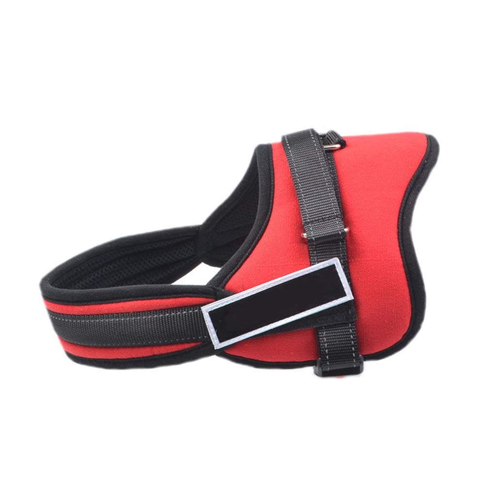 RED S RED S Dog Vest Harness, Safety Buffer Chest Strap Medium and Large Dogs Pet Adjustable Chain Leash Traction Supplies Outdoor Running Walking Rope (color   RED, Size   S)